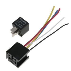 DC 12V Car SPDT Automotive Relay 5 Pin 5 Wires W/ Harness Socket 80A