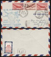 1947 Transatlantic First Flight Cover from New York to Calcutta India via Pan Am
