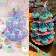 Mermaid Cupcake Stand Birthday Party Decoration Under The Sea