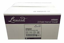 Leonardo 2 ply White Laminated Z Fold Paper Hand Towels BUY 2+ GET 10% OFF