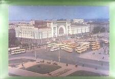 CPA Russia Novosibirsk Bahnhof Railway Station Gare Eisenbahn Auto Car Bus k565