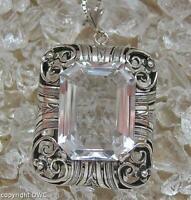 Silberanhänger mit Bergkristall in aus 835 Silber antik an Venezianerkette