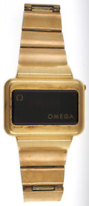 Vintage Omega Constellation TC3 LED 14K GF Quartz Watch Time Computer 196.0045