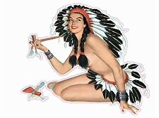 """Native American Pin Up Girl 6"""" Decal FREE SHIPPING"""