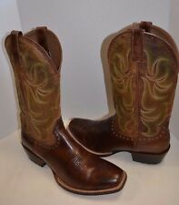 Ariat 10012763 Turnback WESTERN COWBOY SZ 12 D  Leather Square Toe Riding Boot