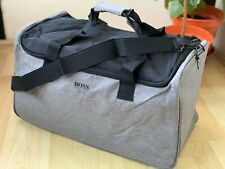 HUGO BOSS  GREY OVERNIGHT DUFFLE HOLDALL GYM WEEKEND BAG New🆕