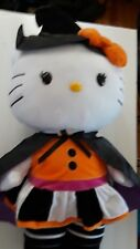 HELLO KITTY GIANT HALLOWEEN DOOR GREETER WITCH CAPE & HAT PLUSH GREAT CONDITION!