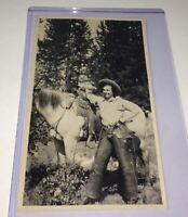 Rare Antique Western American Badass Cowgirl Rancher, Chaps! Snapshot Photo! US!