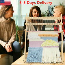 Weaving Loom Kit Large With Stand , Wooden Looming Set | Tapestry Loom Kit Us