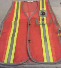 TWO MTA NEW YORK CITY TRANSIT SUBWAY VEST OBSOLETE NYC TRAIN TRACK RARE (TWO)