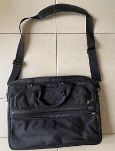 Tumi Black Computer Shoulder Bag - Authentic