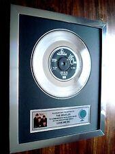 "THE BEATLES LOVE ME DO PLATINUM DISC 7"" SINGLE RECORD AWARD"