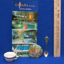 Souvenir Atlanta Georgia Spoon Lusterwear Tea Cup 1999 Button Post Card Lot of 4