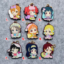 Love Live Anime LoveLive! Sunshine Aqours Rubber Keychain Strap Charm Gift New