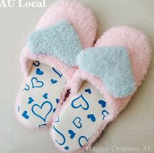 Pink Lady Winter Indoor Slippers Blue Heart Plush Soft Warm CSLIP2036/2040