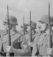WWII B&W Photo German Soldiers in Formation  WW2 World War Two Wehrmacht /2054