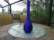 Unique Vintage Cobalt Blue Hobnail Gooseneck Bottle