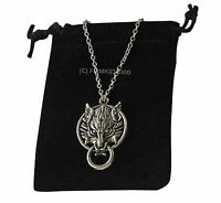 D1 Wolf Werewolf Silver Pendant Necklace Supernatural Vampire Diaries True Blood