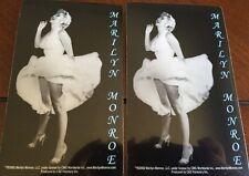 """Two Stickers Marilyn Monroe Sticker 3""""x5"""""""