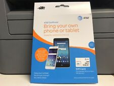 AT&T Go Phone Sim Card 4G LTE Bring Your Own Phone Or Tablet. BRAND NEW. LOC 3A.