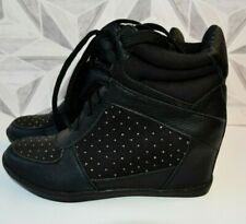 NEW BLACK   LACE UP CONCEALED HEEL ANKLE BOOTS SIZE UK 6   J1