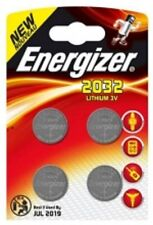4 x Energizer CR2032 3V Lithium Coin Cell Battery 2032