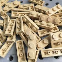 Lego New Lot Of 50 Tan 1x3 Base Plate Tiles 1 X 3 Bricks Plates