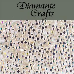 1000 1mm Clear Iridescent AB Diamante Loose Flat Back Rhinestone Nail Body Art