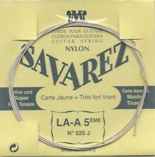 SAVAREZ Corde unité La Filé métal argenté carte JAUNE - Tension très forte 525J