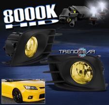 2011 2012 2013 SCION TC BUMPER YELLOW FOG LIGHTS+8000K HID+WIRING HARNESS+SWITCH