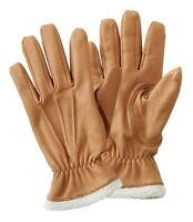 LL Bean Women's Deerskin Leather Gloves With Shearling Size M