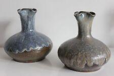 Paire de vase Atelier d'art Labrec en grès Art Nouveau Début XXe Jugendstil