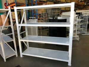Light Duty Garage Shelving--White--2000Hx2000Lx600D 4 levels