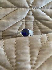 Qvc Diamonique Ring Size L 925 Silver - New