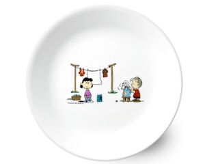 [SNOOPY PEANUTS x CORELLE] Middle Dinner plate dish 21.6cm / the home