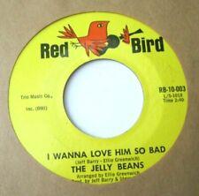 JELLY BEANS * 45 * I Wanna Love Him So Bad * 1960s Nice VG+/VG++ RED BIRD 10,003
