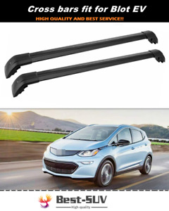 2Pc Fit for Chevrolet Chevy Bolt EV 2016-2021 Roof Rail Rack Cross Bar Crossbar