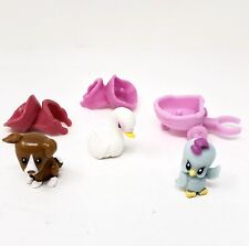 My Little Pony G4 Pets Applejack Dog & Lilly Bloom Swan & Rarity Blue Bird