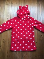 Girls Red Spotted Fleece Top Night Top Dressing Gown Ex Marks and Spencer