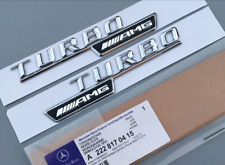 2 ×Chrome AMG Turbo Side Decal Badge Sticker Mercedes-Benz A200 A250 A45 AMG