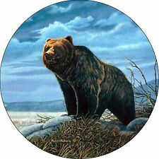 Bear Grizzly Spare Tire Cover Fits jeep, rv, campers, trailers, backup camera