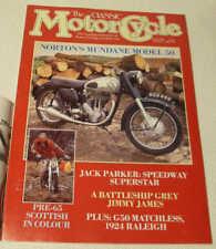 CLASSIC MC 6/89 MATCHLESS G50, Norton Modello 50, 1924 raleig, James Franco