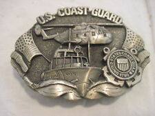 OLD U.S. COAST GUARD BOAT HELLICOPTER BELT BUCKLE CLOTHING