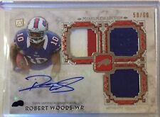 2013 Topps Museum Collection Robert Woods RC Auto Patch #58/69 Triple Relic