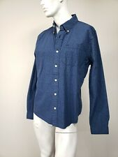ABERCROMBIE & FITCH Muscle Navy/Blue Bike Print Cotton Button-Down Shirt XXL NWT