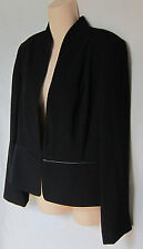 $338 EILEEN FISHER TROPICAL TUITING WITH ECO POLY STAND COLLAR JACKET M