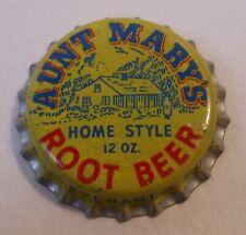 Vintage Aunt Mary's Root Beer..cork..unused..SODA BOTTLE CAP