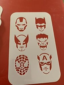 Superhero Stencil For Face Painting