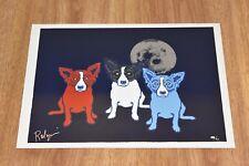 George Rodrigue Blue Dog Me Myself And I Silkscreen Print  Signed Artwork