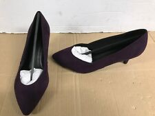 864e528a46b6 Evans Fran Womens UK 7 Eee Extra Wide Fit Purple Mid Heel Pointed Court  Shoes